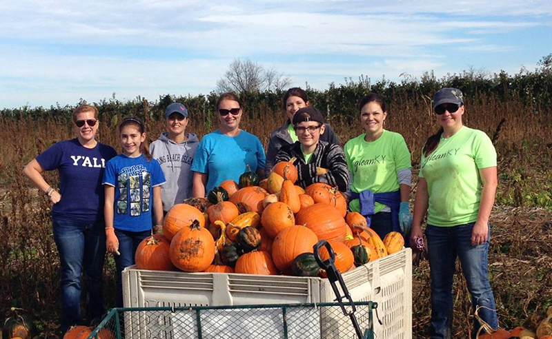 gleaning pumpkins