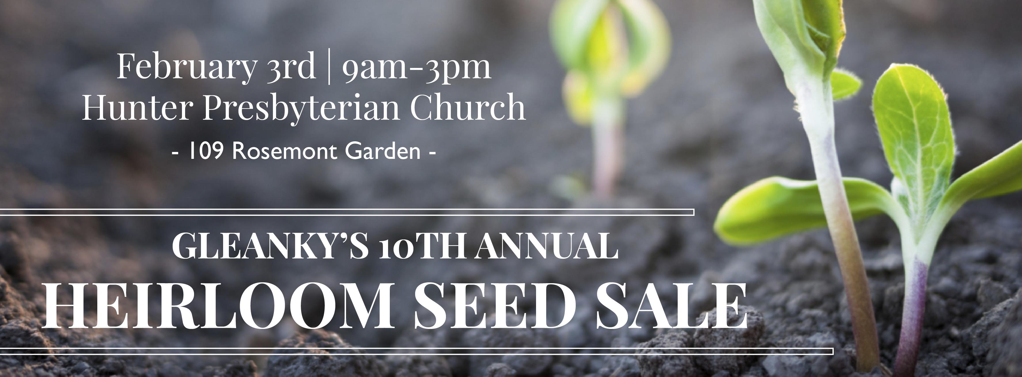 10th Annual Heirloom Seed Sale