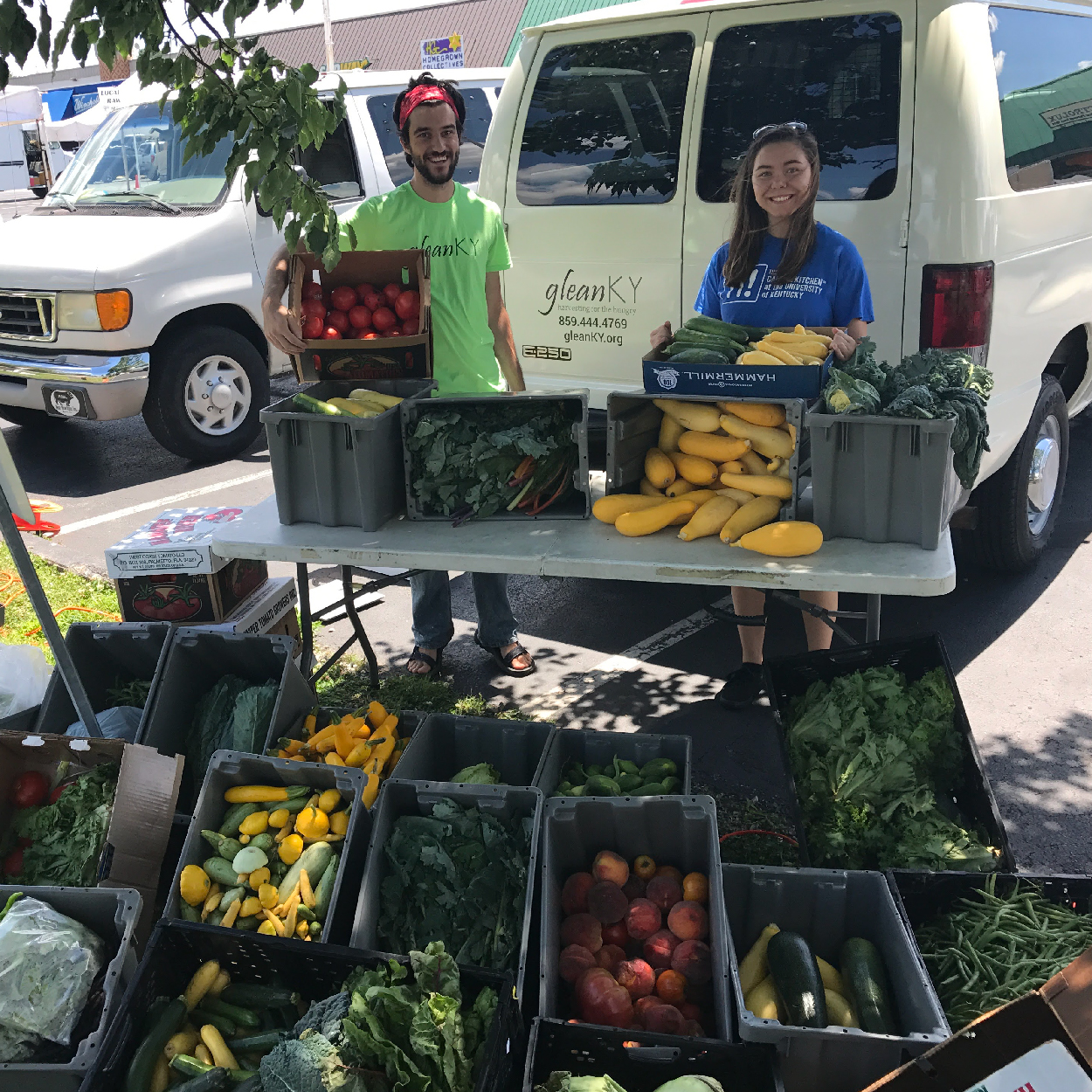 Gleaning the Lexington Farmers' Market